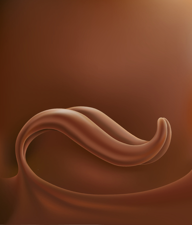 Chocolate tongue splash background Ilustracja