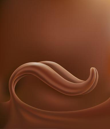 Schokoladen-Zungenspritzer-Hintergrund