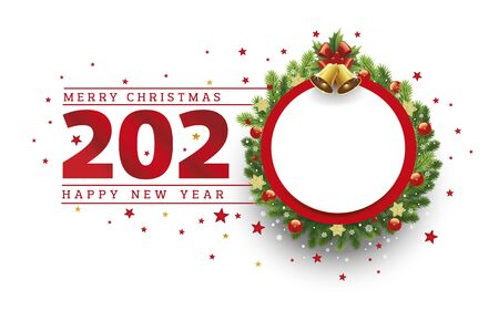 Merry christmas background 2020 new year card with place for text