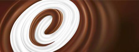 chocolate tongue splash with milk