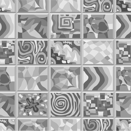 peculiar: Abstract seamless pattern consisting of many unusual stories. Illustration
