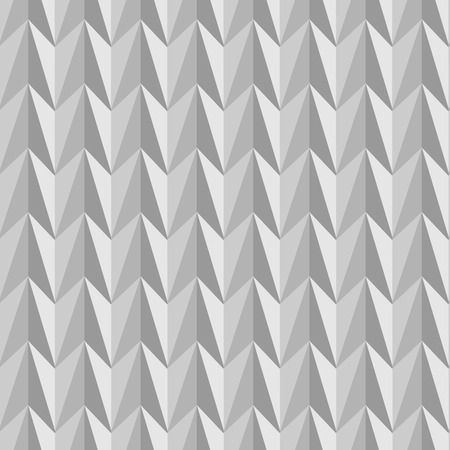 Abstract seamless pattern composed of geometric shapes in shades of gray. Vector
