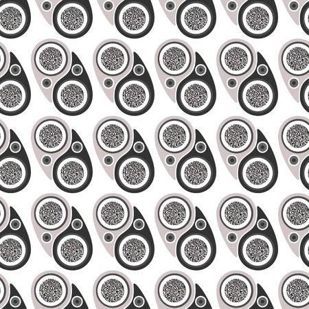 undulatory: Abstract seamless pattern.The concept on the theme of Yin Yang. Illustration