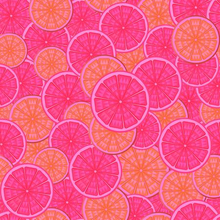 orange cut: Cuadro abstracto pattern.The sin fisuras de un corte de naranja. Vectores