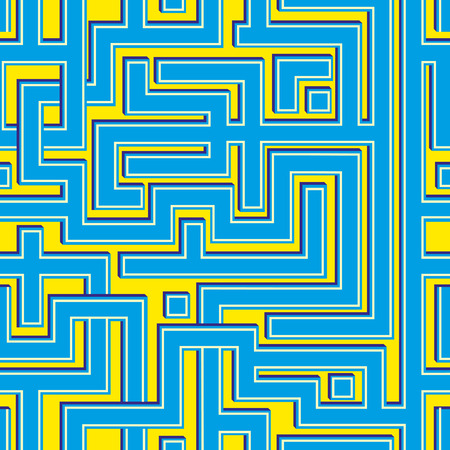 Abstract colorl seamless pattern resembling a maze.