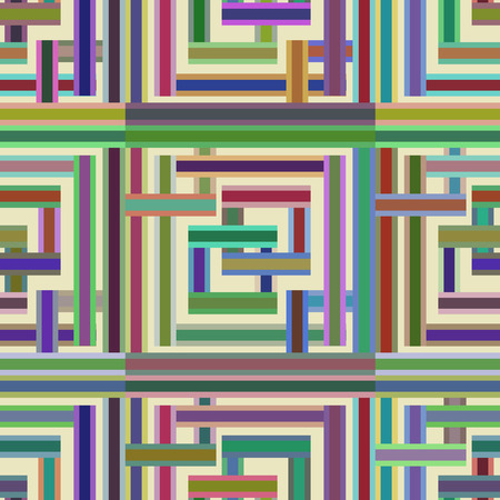 Abstractly seamless pattern made of colorful rectangles. Ilustração