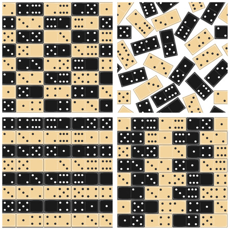 Set of abstract seamless texture consisting of elements dominoes.