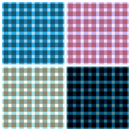 fabrica: Seamless pattern reminded Scottish fabric.A set of four illustrations. Illustration