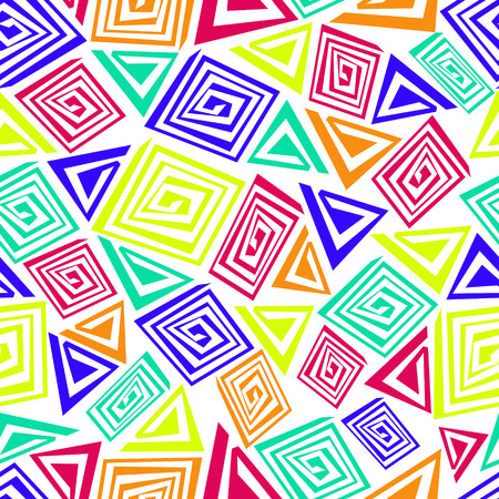 Abstract seamless pattern made of colorful elements.
