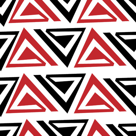 Abstract seamless pattern consisting of elements of red and black. Ilustração