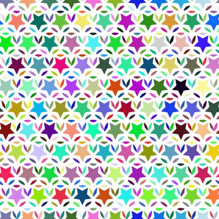 色 stars.illustration のシームレスなパターン。  イラスト・ベクター素材