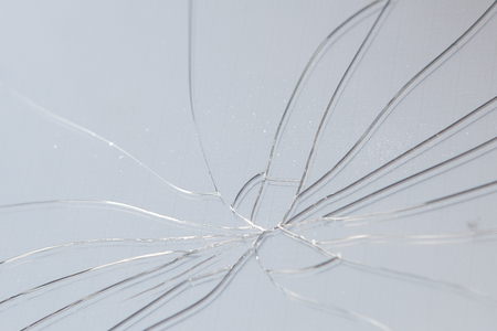 Broken glass on black background ,texture backdrop object design. Stock Photo