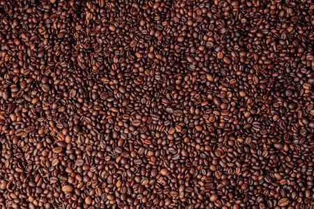 Mixture of different kinds of coffee beans. Coffee Background. Stock fotó