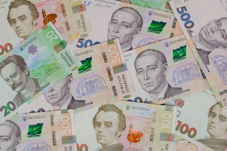 nouveaux billets de banque ukrainiens Hryvnia. Billets Ukrainiens