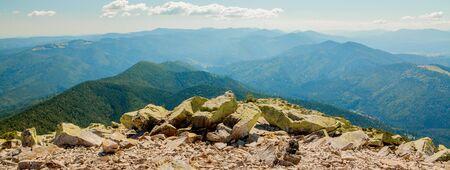 Beautiful mountain landscapes with the Ukrainian Carpathians Фото со стока