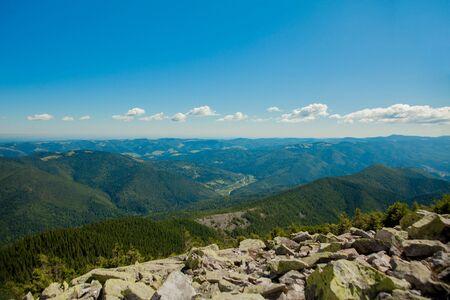 Beautiful mountain landscapes with the Ukrainian Carpathians Stok Fotoğraf