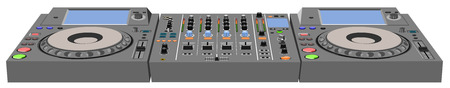 DJ console. The file has three layers: body, marking, button.