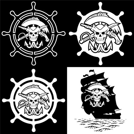 grappling: Pirate symbols. The file has three layers.