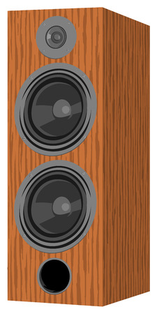 Musical speaker. The file has three layers