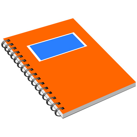 detachable: Notebook with metal spiral. Isolated notebook with metal spiral