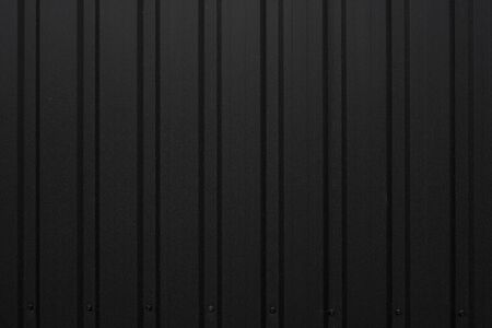 Black Corrugated metal sheet texture surface of the wall. Galvanize steel background 写真素材
