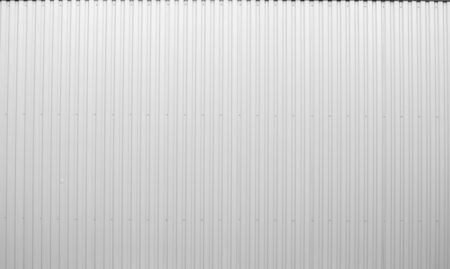 White Corrugated metal sheet texture surface of the wall. Galvanize steel background. 写真素材