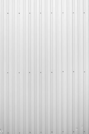 White Corrugated metal sheet texture surface of the wall. Galvanize steel background