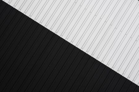Black and white Corrugated metal sheet texture surface of the wall. Galvanize steel background 版權商用圖片