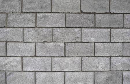 Struttura leggera schiumata in blocchi di cemento. Texture di sfondo del blocco di calcestruzzo leggero bianco, materia prima per pareti industriali o domestiche. Archivio Fotografico