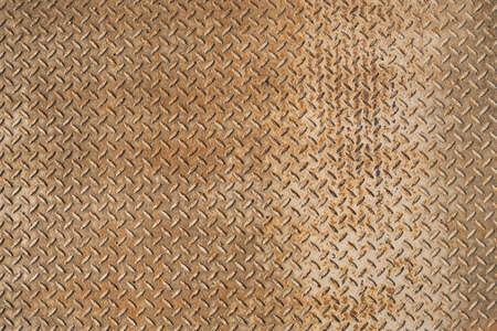 Texture of rusty metal plate of the floor. 免版税图像