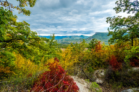 lake dweller: The valley is in the Crimean autumn.