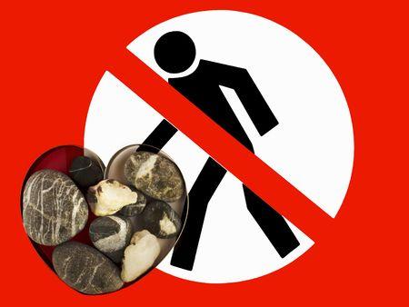 careless: Stone heart, be careful, do not stumble.