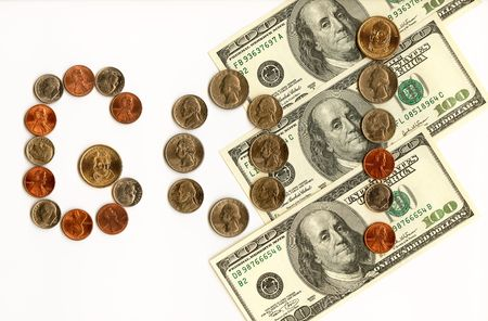International currencies and coins with emotional exclamation. Stock Photo - 4221672