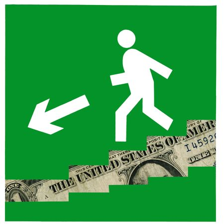 Crisis of world economic. The fall of the dollar continues. Stock Photo - 4517550