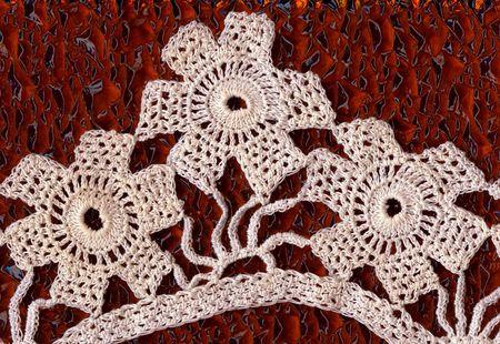 needlecraft: The lace floral pattern, background, needlecraft.