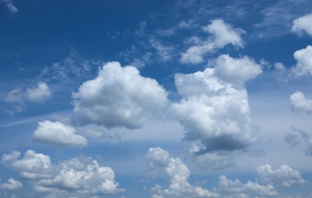 Beautiful blue sky and white clouds Stock Photo - 18028661