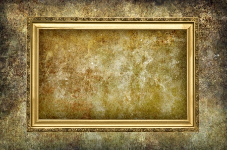 A picture frame on  grunge  background Stock Photo - 18031581