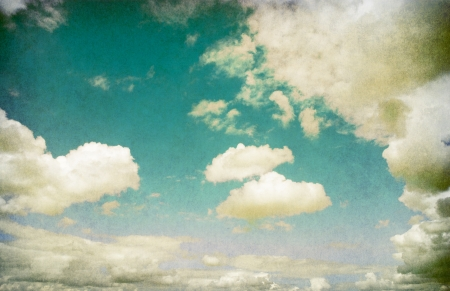 Retro image of cloudy sky   Stock Photo - 18054131