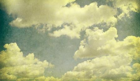 retro image of cloudy sky   Stock Photo - 18054116
