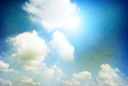 retro image of cloudy sky  Stock Photo - 18054085