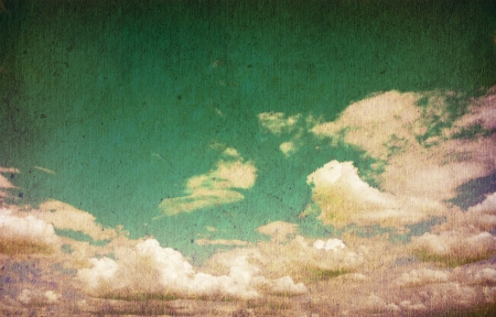 retro image of cloudy sky   Stock Photo - 18074803