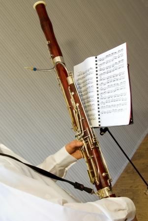 fagot: Muzyk gra na fagot Zdjęcie Seryjne