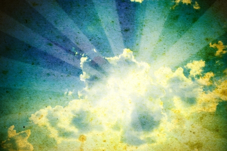 retro beeld van bewolkte hemel Stockfoto