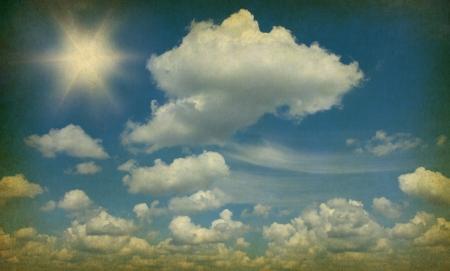 retro image of cloudy sky Stock Photo - 18105759