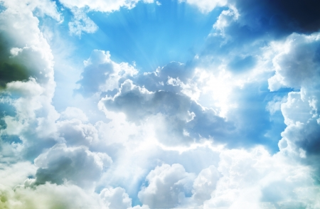 jesus clouds: Beautiful blue sky and white clouds