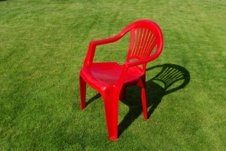 r furniture: Directors chair on the garden