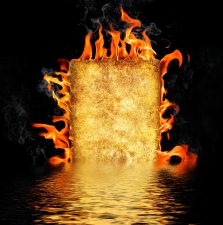 burning paper: Burning paper on black background