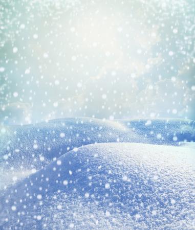 テキスト用の空領域のある冬景色 写真素材