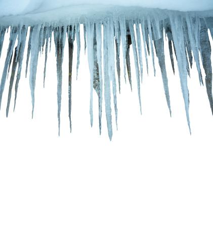 frigid: icicles on white