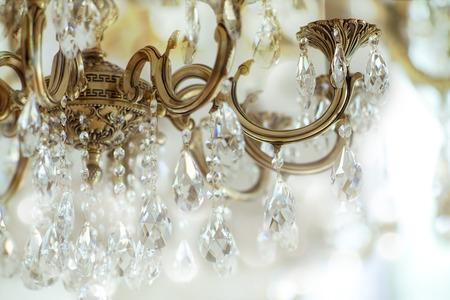 iluminacion: Cristal de la vendimia detalles de araña